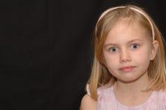 Jeune fille avec les yeux lumineux Image libre de droits