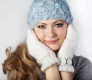 Jeune fille avec un long cheveu juste Images stock