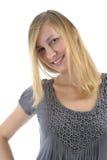 Jeune fille blonde attirante Photographie stock libre de droits