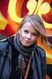 Jeune fille blonde attirante Photo libre de droits