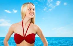 Jeune fille blonde sexuelle Images stock