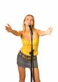 Jeune fille chanteuse Images libres de droits