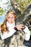 Jeune fille d'écologiste image stock