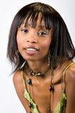 Jeune fille d'Afro-américain Photographie stock libre de droits