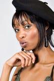 Jeune fille d'Afro-américain Photo stock