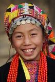 Jeune fille d'Akha, Phongsaly, Laos Photo libre de droits