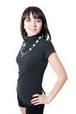 Jeune fille dans le chemisier noir et les circuits photos stock
