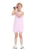 Jeune fille dans une robe rose images libres de droits