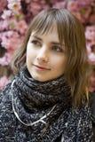 Jeune fille de l'adolescence attirante de verticale Photo stock