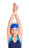 Jeune fille de nageur Images stock
