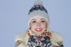 Jeune fille de sourire mignonne Photos libres de droits