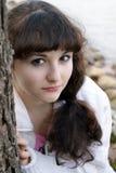 Jeune fille dehors Photographie stock libre de droits