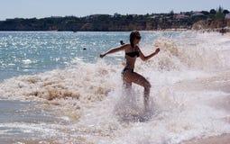 Jeune fille des vacances Photos libres de droits