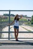Jeune fille des vacances Photo stock