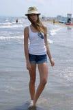 Jeune fille des vacances Photo libre de droits