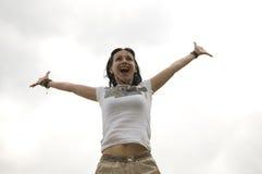 Jeune fille extérieure Image libre de droits