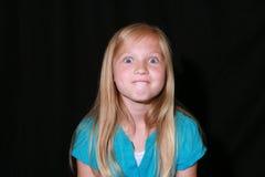 Jeune fille fâchée Photo libre de droits