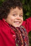 Jeune fille fière de lancement Photo stock