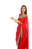Jeune fille indienne dans le vêtement traditionnel. image libre de droits