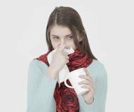 Jeune fille malade Photos stock