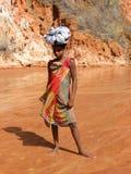 Jeune fille malgache indigène Photographie stock