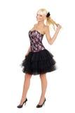Jeune fille mignonne dans la robe de mode Image libre de droits