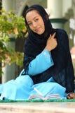 Jeune fille musulmane heureuse Photo libre de droits