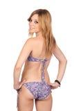 Jeune fille occasionnelle avec le bikini Image stock