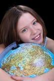 Jeune fille rêvant d'un voyage Images libres de droits