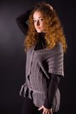Jeune fille red-haired attirante Image libre de droits