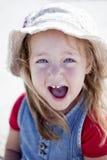 Jeune fille riante image stock