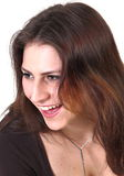 Jeune fille riante Photo libre de droits