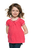 Jeune fille rousse gaie Images stock