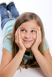 Jeune fille recherchant Photos stock
