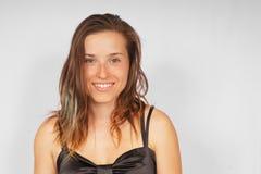 Jeune fille sexy de sourire. Image libre de droits