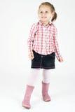 Jeune fille souriant et dansant Images stock