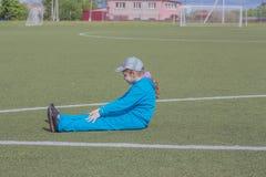 Jeune fille sportive Photographie stock