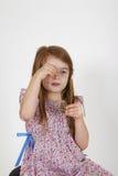 Jeune fille sur la chaise Image libre de droits