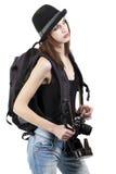 Jeune fille sur un voyage photo libre de droits