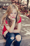 Jeune fille triste Photos libres de droits