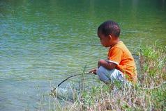 Jeune Fisher Photos stock