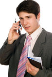 Jeune fonctionnement d'homme d'affaires Image stock