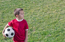 Jeune footballeur hispanique Photo stock