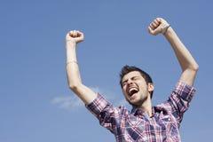 Jeune gagnant heureux Photos libres de droits