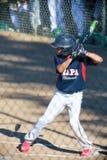 Jeune gain de séjours de joueur de baseball Photographie stock libre de droits