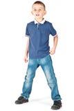 Jeune garçon étonné Image stock