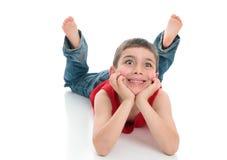 Jeune garçon aux yeux brillants Image libre de droits