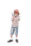 Jeune garçon avec orienter d'élingue photo stock