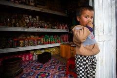 Jeune garçon birman mignon en Chin State photo libre de droits