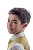 Jeune garçon dans sa première communion Images stock